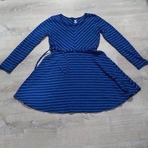 Old Navy striped belted dress large 10-12